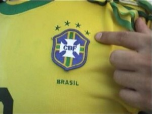 A Brazilian football badge