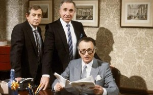A picture from the TV programme 'Yes Minister'