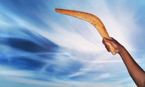 A picture of a boomerang