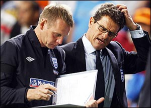 A picture of Stuart Pearce and Fabio Capello