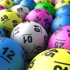 A picture of lotto balls
